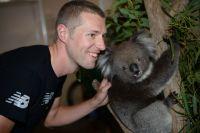 Ryder Hesjedal avec un koala