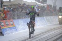 Victoire de Nairo Quintana sous la neige à Terminillo