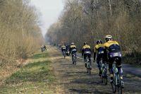 Le Team LottoNL-Jumbo dans la Trouée d'Arenberg