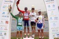 Le podium final du Tour d'Oman 2015