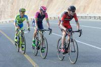 Tejay Van Garderen, Rafael Valls et Rafal Majka s'isolent dans la montée de la Montagne Verte