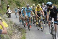 Vincenzo Nibali aux côtés de Chris Froome