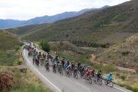 Le peloton de la Vuelta en Aragon