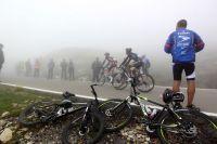 La Vuelta dans le brouillard