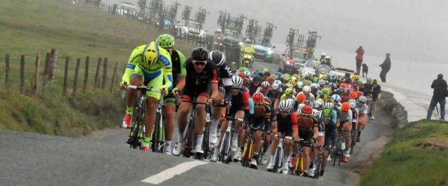 Le peloton du Tour de Grande-Bretagne