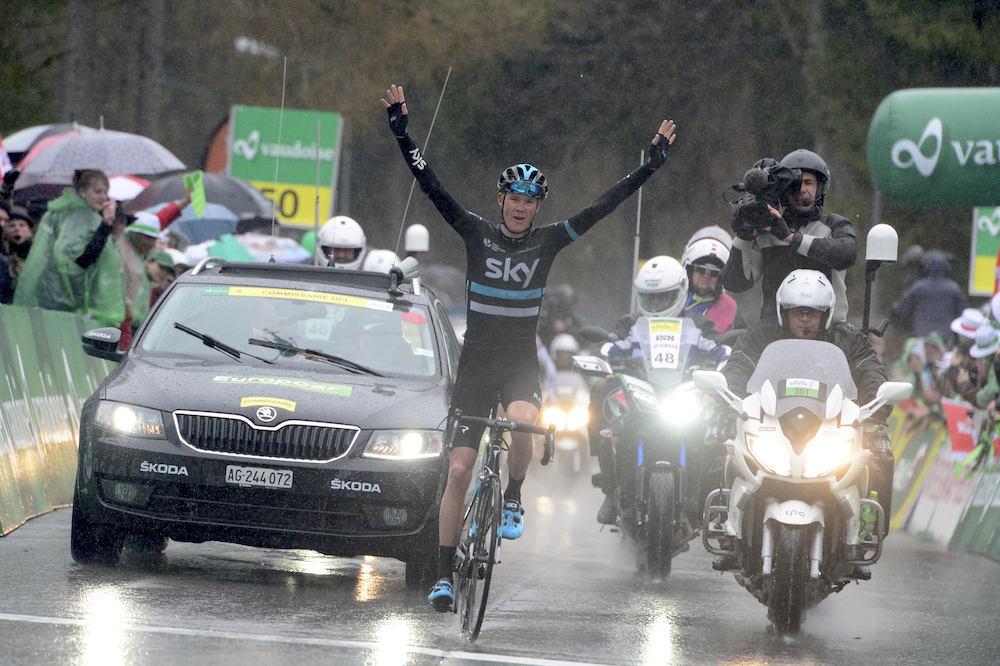 Chris Froome vainqueur avec panache en Romandie