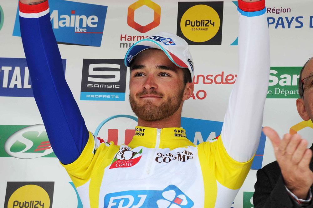 Marc Fournier en jaune au Circuit de la Sarthe