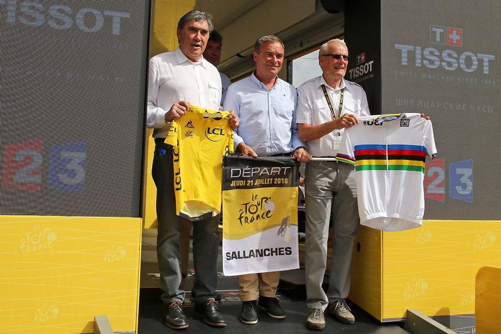 Eddy Merckx, Bernard Hinault et Jan Janssen réunis