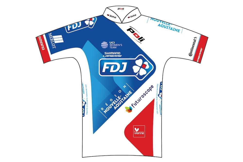 Le maillot de l'équipe FDJ Nouvelle Aquitaine Futuroscope