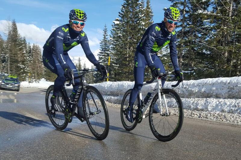 Andrey Amador et Alejandro Valverde partent en reco du Giro