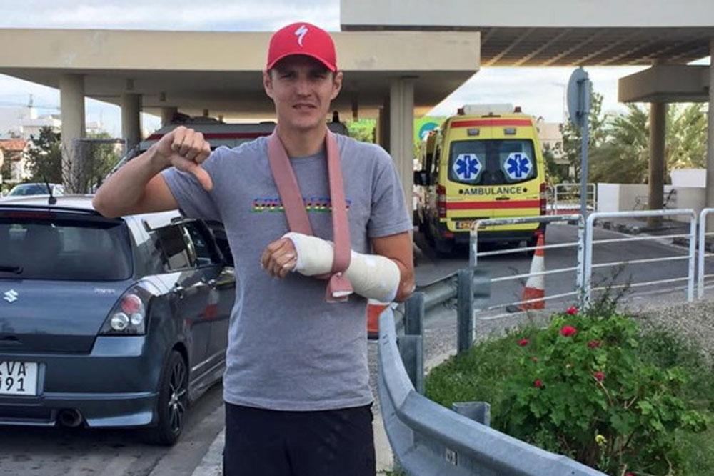 Jaroslav Kulhavy blessé à Chypre