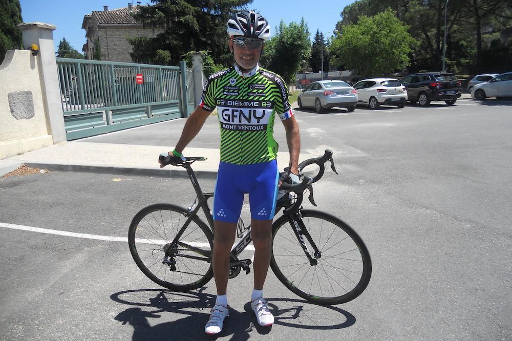 Jean-Jacques Lambotte prêt pour la GFNY Mont-Ventoux