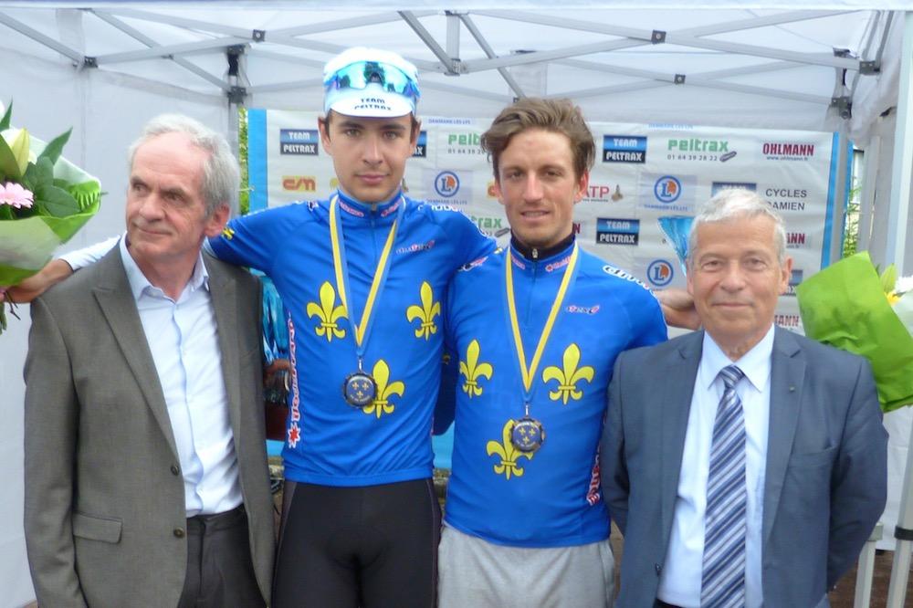Kevin Le Cunff (à droite) nouveau champion d'Île-de-France
