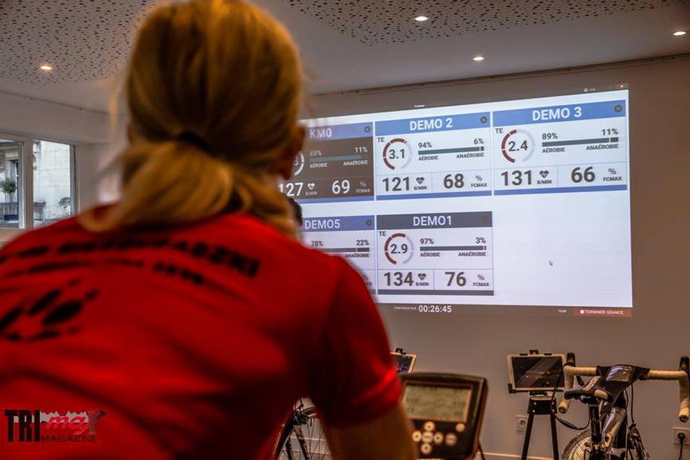 Les données retransmises instantanément sur un écran