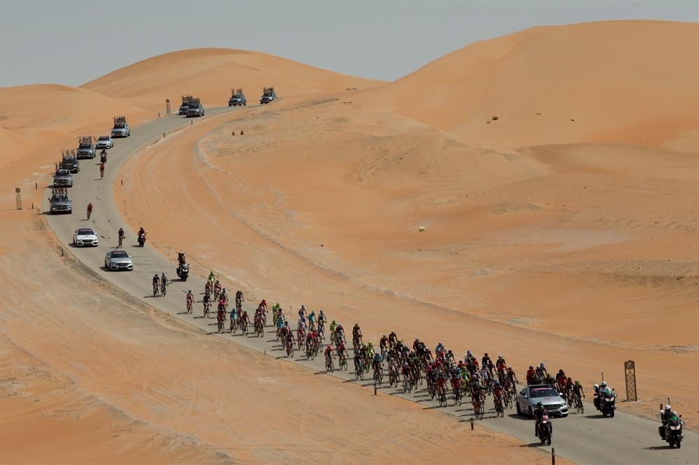Le désert d'Abu Dhabi