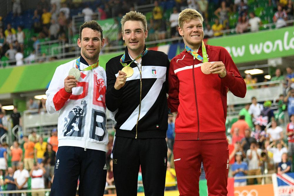 Le podium de l'omnium aux Jeux
