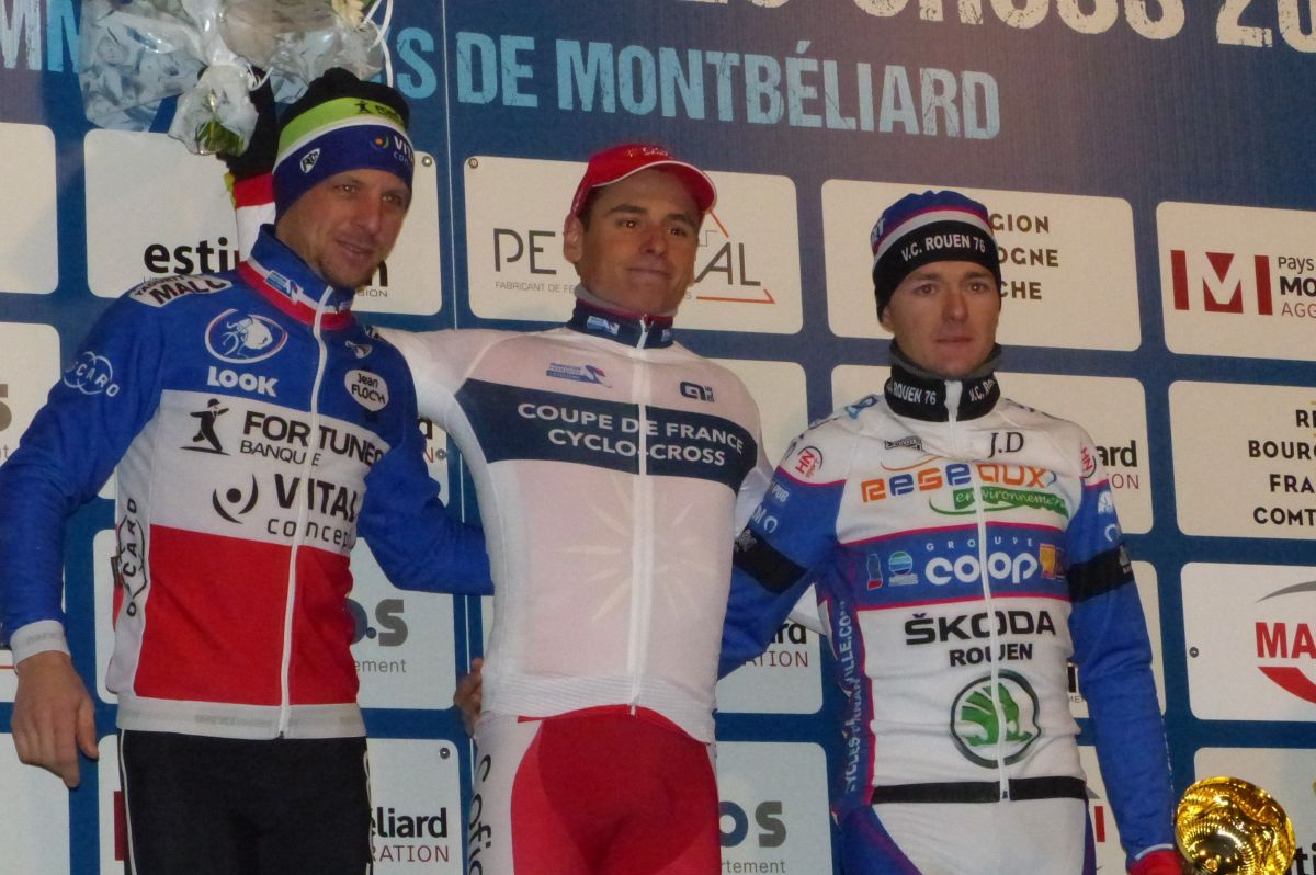 Le podium de la Coupe de France 2016
