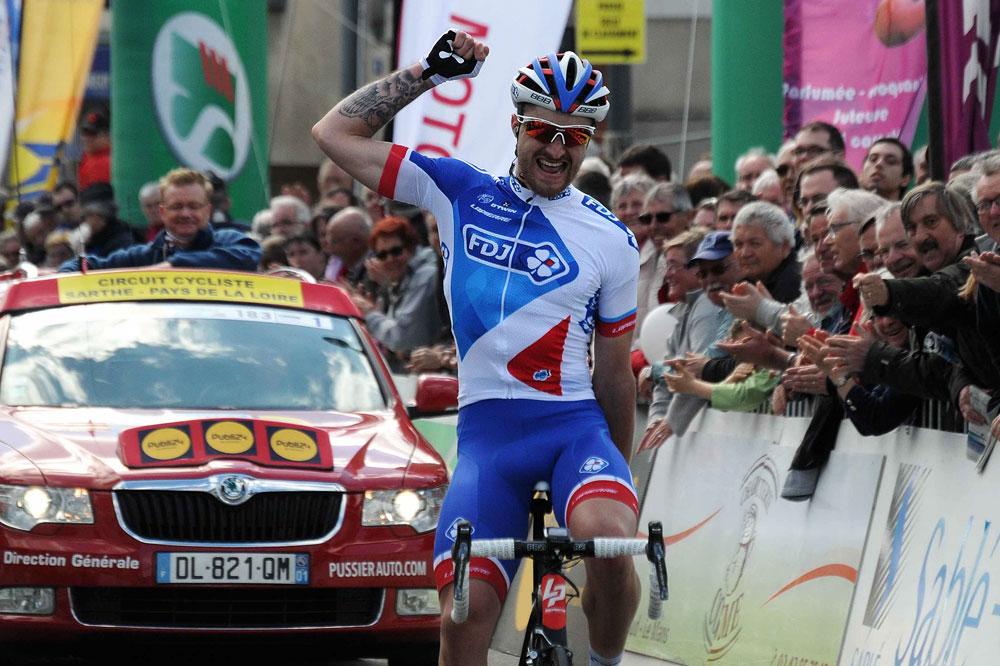 Marc Sarreau vainqueur sur la Sarthe