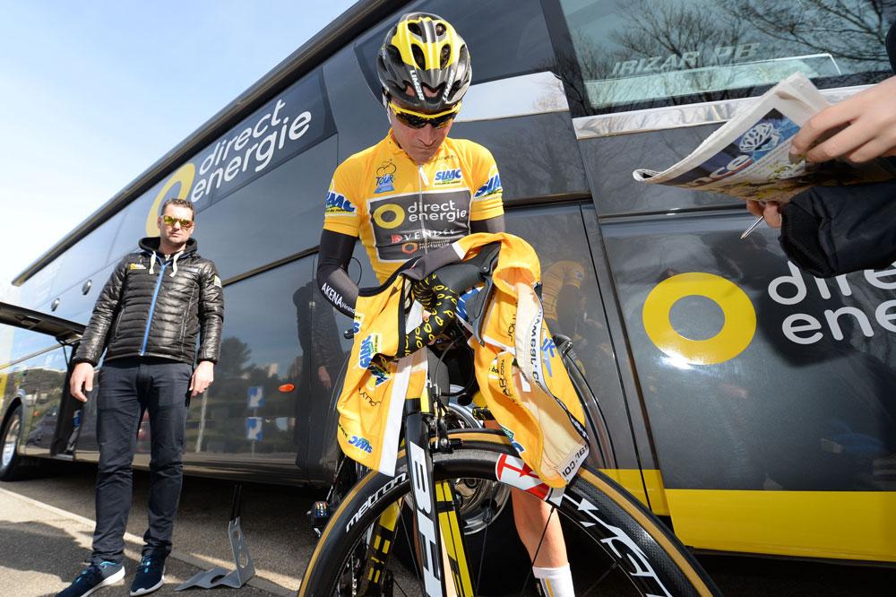 Thomas Voeckler en jaune au Tour de la Provence