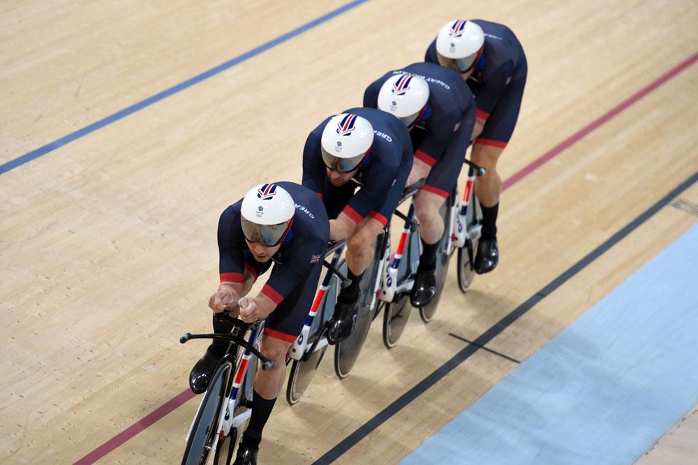 L'équipe de poursuite par équipes britannique