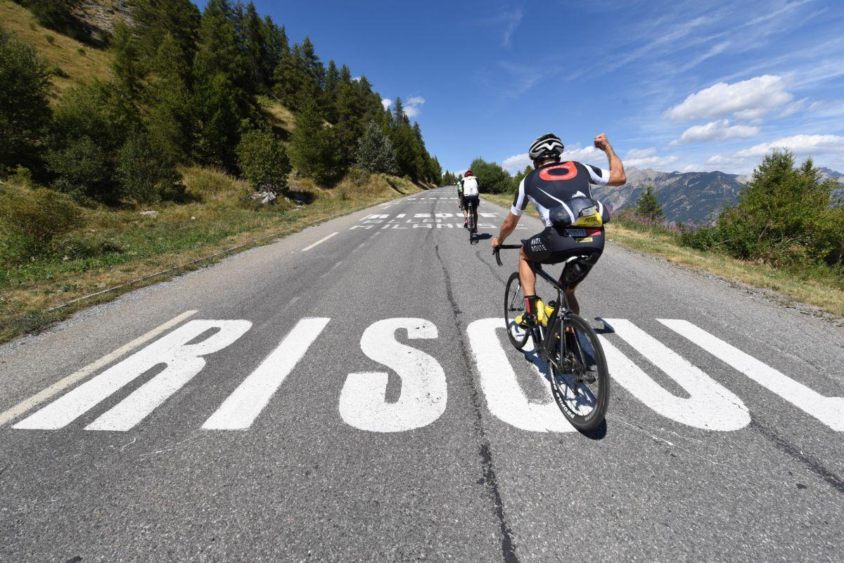 Risoul, arrivée de la 2ème étape de la Haute Route des Alpes