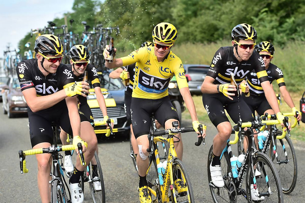 Champagne pour Chris Froome