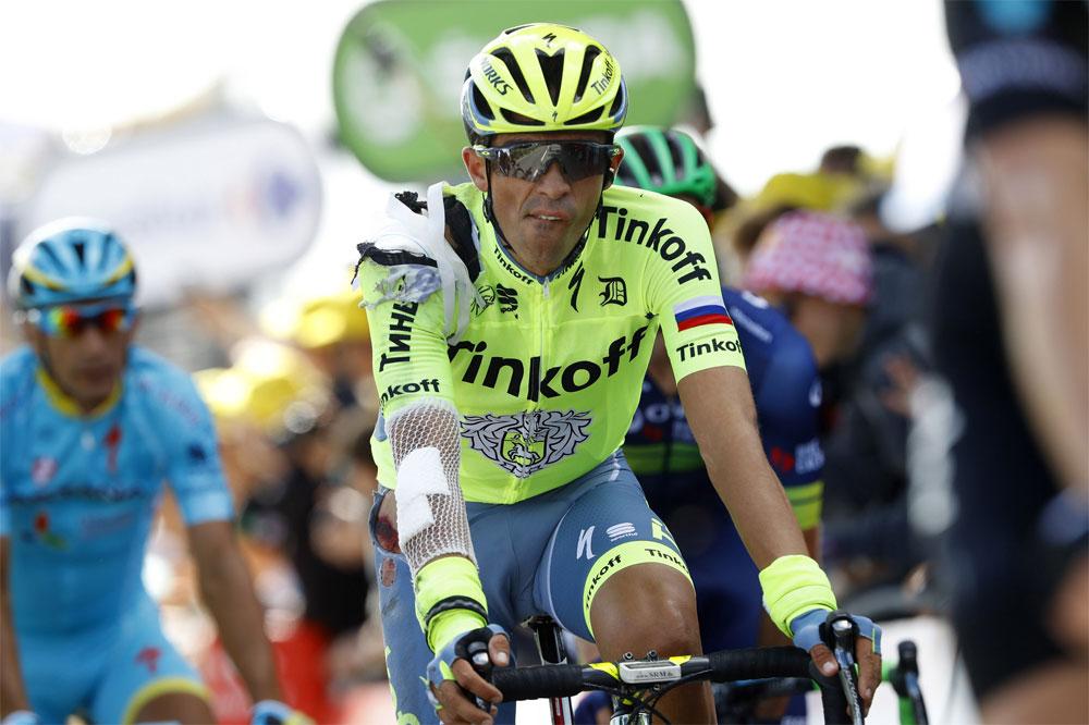 Alberto Contador amoché dès l'entame du Tour