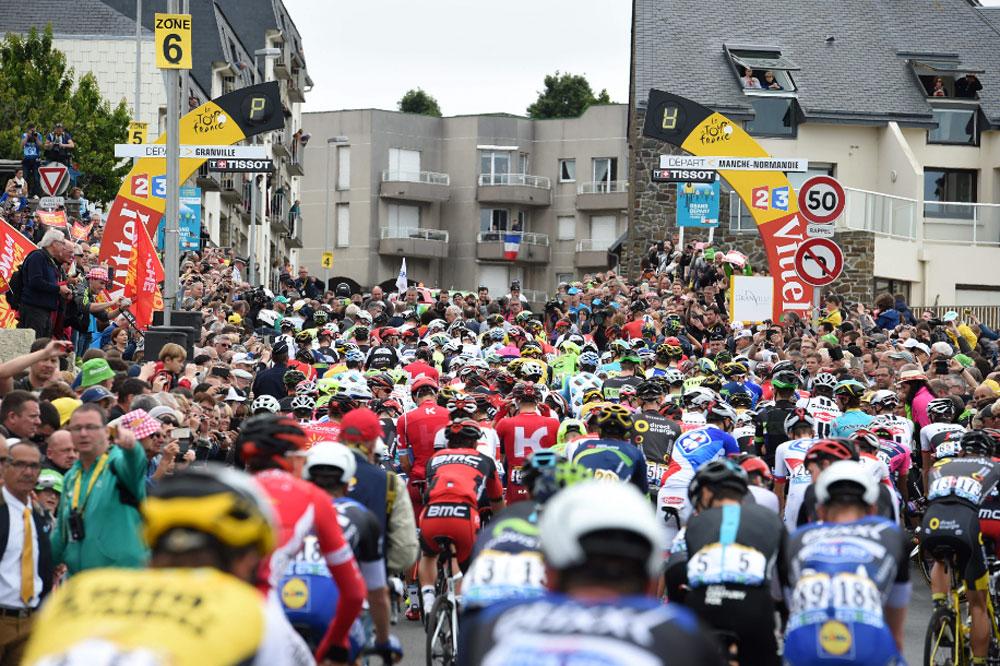 Le Tour de France quitte la Manche