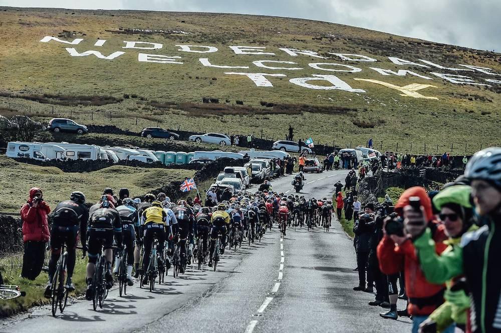 Le peloton du Tour du Yorkshire