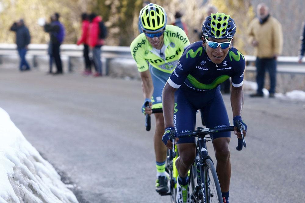 Nairo Quintana écarte Alberto Contador à Port Ainé