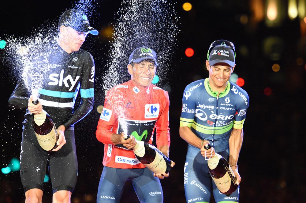 Chris Froome, Nairo Quintana et Esteban Chaves