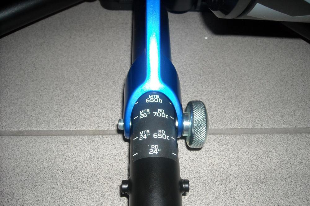 Quatre positions de hauteur en fonction du type de vélo