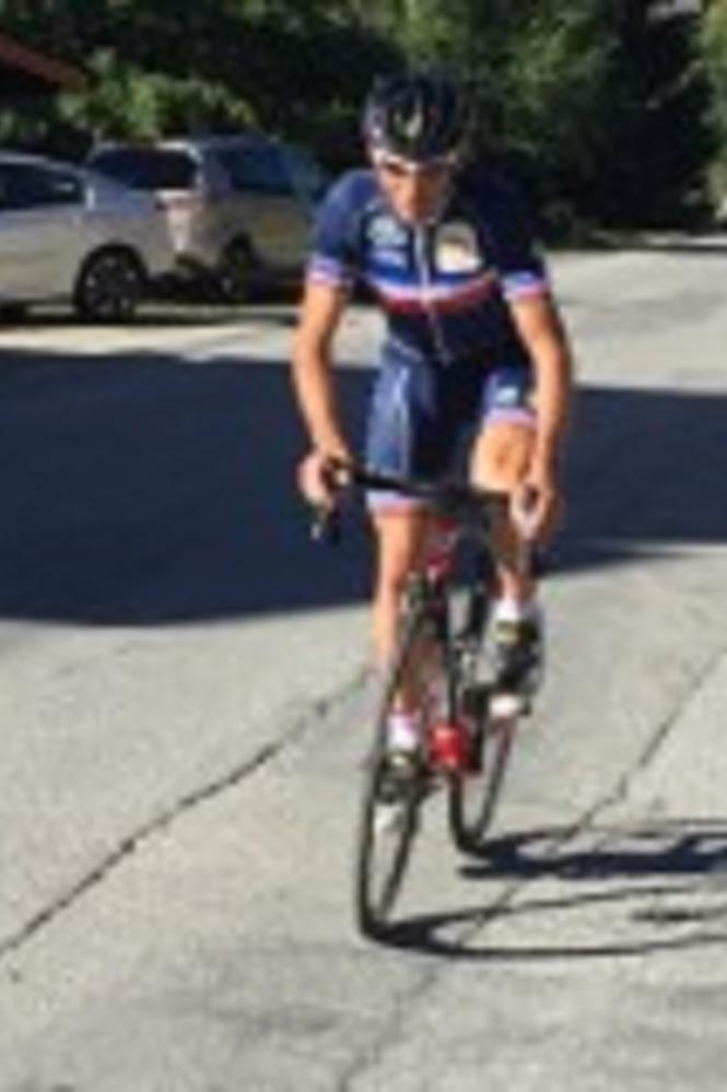 William Turnes avec son maillot de l'équipe de France