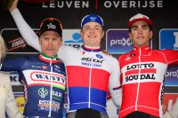 Enrico Gasparotto, Petr Vakoc et Tony Gallopin sur le podium de la Flèche Brabançonne