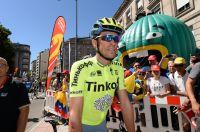 Alberto Contador au départ de la 2ème étape de la Vuelta