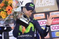 Alejandro Valverde entre dans l'histoire de la Flèche Wallonne avec un quatrième succès