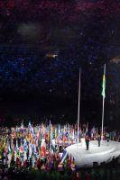La cérémonie des drapeaux
