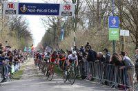 Fabian Cancellara à la sortie de la Tranchée d'Arenberg