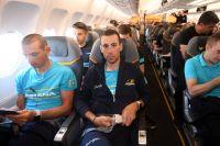 Vincenzo Nibali dans l'avion