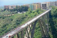 Le peloton du Tour d'Italie en Calabre