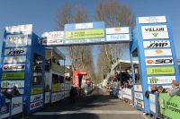 La ligne d'arrivée de la Semaine Internationale Coppi Bartali