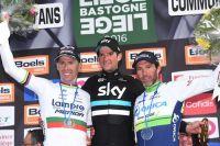 Le podium de Liège-Bastogne-Liège