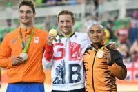 Le podium du keirin à Rio