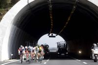 L'échappée dans le tunnel du Passo del Turchino