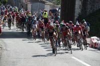 Le peloton du Critérium du Dauphiné