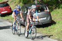Romain Bardet et Thibaut Pinot dans la montée vers Méribel