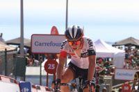 Simon Pellaud à l'arrivée de la 3ème étape du Tour d'Espagne