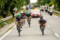 Peter Sagan talonné par les Orica-BikeExchange