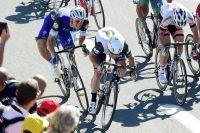 Marcel Kittel freine derrière Mark Cavendish