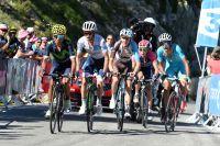Nairo Quintana, Adam Yates, Romain Bardet et Fabio Aru